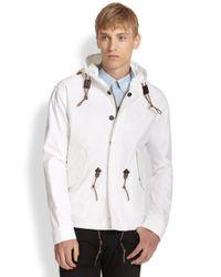 Burberry Brit White Poplin Rainwear Jacket for men