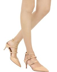 Gianvito Rossi - Natural 55mm Calf Belted Pumps - Lyst