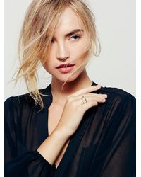 Free People - Metallic Double Barbell Open Ring - Lyst