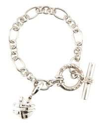 Slane | Crescent Weave White Onyx Charm Bracelet | Lyst