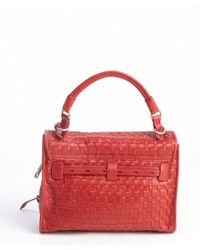 Gryson - Pink Red Leather Woven 'Ruby' Bag - Lyst