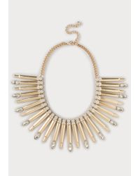 Bebe | Metallic Metal Bar Necklace | Lyst
