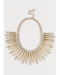 Bebe - Metallic Metal Bar Necklace - Lyst