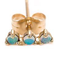 Wwake | Metallic Opal Stud Earrings | Lyst