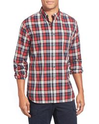 Grayers | Multicolor 'heather Poplin' Trim Fit Tartan Plaid Sport Shirt for Men | Lyst