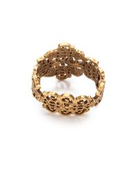 Oscar de la Renta - Metallic Gold Lace Bracelet Russian Gold - Lyst