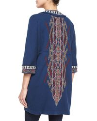 Johnny Was | Brown Sophie Embroidered Long Coat | Lyst
