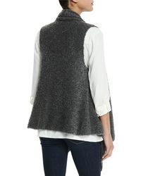 Soft Joie   Gray Orrin Boucle Wool-blend Vest   Lyst