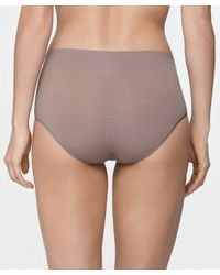 Yummie By Heather Thomson - Gray Ultralight Seamless Natalie Hipster - Lyst