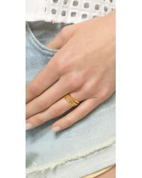 Gorjana - Metallic Texture G Ring Set - Gold - Lyst