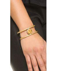 Madewell - Metallic Flat Sided Cuff Bracelet - Chestnut - Lyst