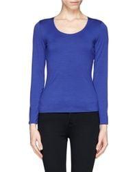 Armani - Blue Jersey T-shirt - Lyst