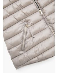 Mango | Gray Water-repellent Quilted Gilet | Lyst