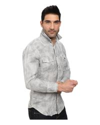 BOSS Orange | Gray Edaslime Slim Fit Long Sleeve Shirt In Linen Cold Dyed for Men | Lyst