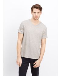 Vince - Gray Favorite Jersey V-neck Tee for Men - Lyst