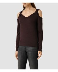 AllSaints | Purple Neri Jumper | Lyst