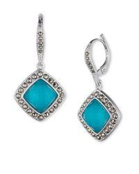 Judith Jack | Metallic Sterling Silver Turquoise (2-3/4 Ct. T.w.) Drop Earrings | Lyst