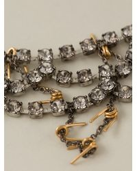 Tom Binns - Gray Scalloped Crystal and Barbed Wire Necklace - Lyst