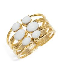 R.j. Graziano - Metallic Cabochon Bangle Bracelet - Lyst
