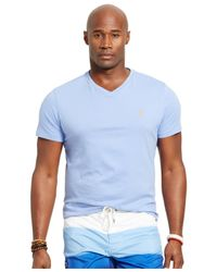Polo Ralph Lauren | Blue Big & Tall Jersey V-neck T-shirt for Men | Lyst