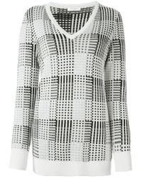 Equipment - Natural V-neck Sweater - Lyst