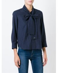 DSquared² - Blue Checked Shirt - Lyst