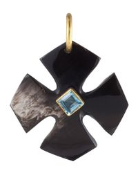 Ashley Pittman | Clover Pendant W/Blue Topaz | Lyst