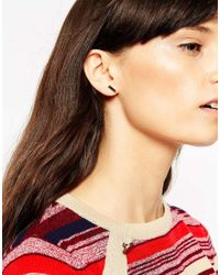 ASOS - Metallic Multipack Mixed Stones And Shapes Earrings And Cuff Set - Lyst