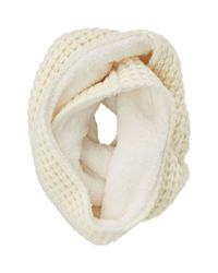 Uniqlo - White Women Fleece Snood - Lyst