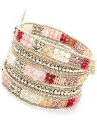 Nakamol | Multicolor Filipa Wrap Bracelet-pink | Lyst