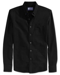 American Rag | Black Emeric Oxford Shirt for Men | Lyst