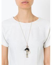 Servane Gaxotte | Black Pig Pendant Necklace | Lyst