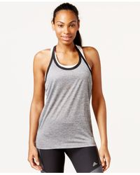 Adidas | Gray Climalite® Racerback Tank Top | Lyst