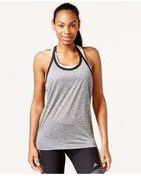 Adidas | Gray Climalite® Racerback Tank Top | Lyst