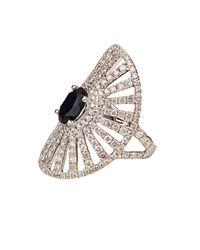 Elise Dray | Diamond, Onyx & White-Gold Antoinette Pinky Ring | Lyst