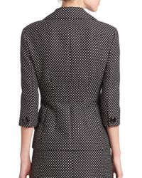Michael Kors - Gray Dot Jacquard Double-breasted Jacket - Lyst