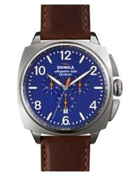 Shinola - Brown 'the Brakeman' Leather Strap Watch for Men - Lyst