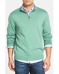 Vineyard Vines | Green Quarter Zip Pullover for Men | Lyst