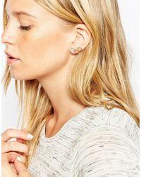 ASOS | Metallic Honeycomb Stud Earrings | Lyst