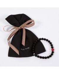 Paul Smith | Black Beaded Bracelet for Men | Lyst
