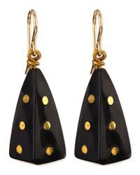 Ashley Pittman | Black Doa Dark Horn Pyramid Dot Earrings | Lyst