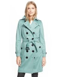 Burberry - Black 'sandringham' Cashmere Trench Coat - Lyst