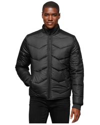 Calvin Klein Jeans | Black Quilted Bomber Jacket for Men | Lyst
