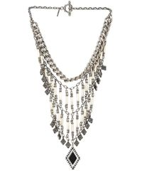 Vanessa Mooney | Metallic The Midnight Statement Necklace | Lyst