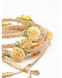 Free People | Yellow Floral Braid Ins | Lyst