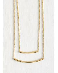 Ana Accessories Inc | Metallic Dainty Duo Necklace | Lyst