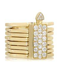 Lynn Ban - Metallic Octagon Convertible 14-Karat Gold Diamond Ring - Lyst