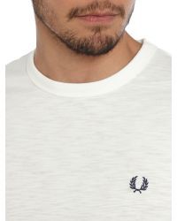 Fred Perry | White Slub Jersey Ringer Crew Neck Regular Fit T-shirt for Men | Lyst