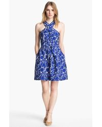Mcginn | Blue 'serafina' Print Halter Dress | Lyst