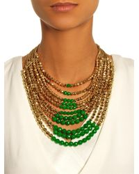Rosantica By Michela Panero   Metallic Raissa Jade And Gold-Dipped Necklace   Lyst